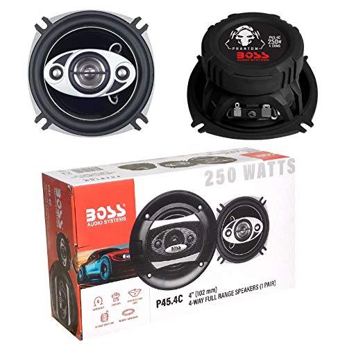 2 Altavoces Compatible con Boss Audio Systems PHANTOM Series P45.4C coaxial 4...