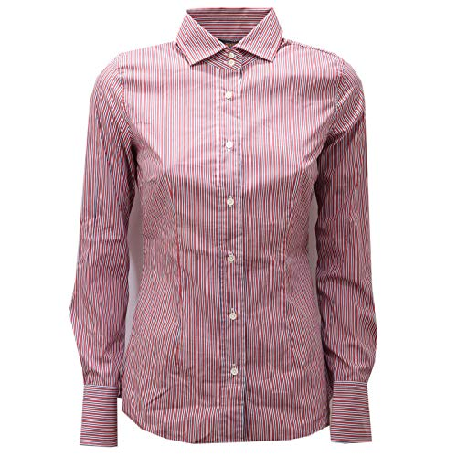 MAURO GRIFONI 5524AE Camicia Donna Blue/Red Stripes Shirt Woman [40]