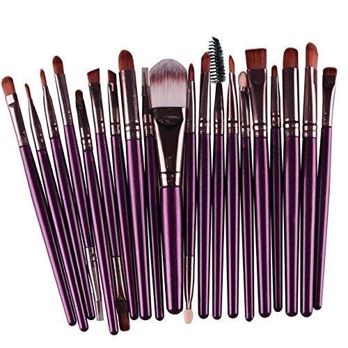 Kit de 20 brochas cosméticas para base de maquillaje, colorete, maquillaje en polvo