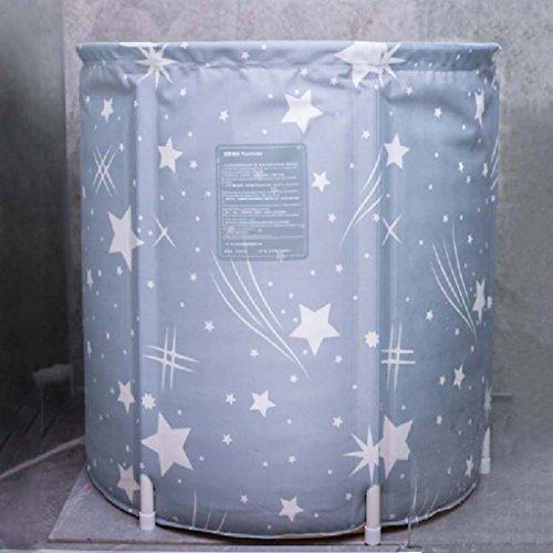 Badewannen AMOS Erwachsenen-Haushalt Ganzkörper ausziehbar Bad Schaumbad Verdickung Isolierung (Farbe : Grau, größe : S 65 * 65cm)