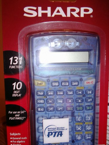 Sharp Scientific Calculator El-501 Wb-bl
