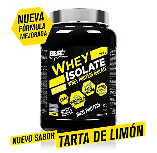WHEY ISOLATE (Aislado de proteina de suero) 2000g.sabor tarta de limón (tarta de limon)