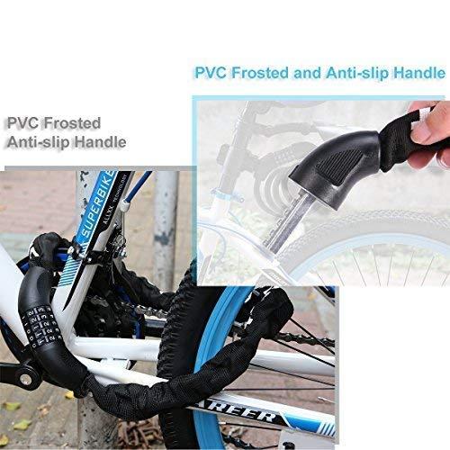 Fahrradschloss, Blusmart Zahlenschloss mit Stahlkettenglieder 7mm x 900mm Kettenschloss mit Zahlenkombination für Fahrrad und Motorrad, 860g - 9