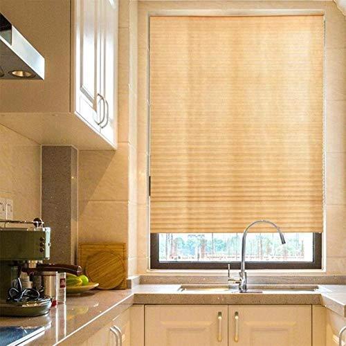Zelfklevende Geplooide Jaloezieën Gordijnen Half Verduisterende Badkamer Windows Gordijnen Gordijnen Balkon Woonkamer Home Window Decor, Lichtbruin, 90x180cm