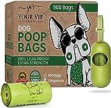 YOUR VIP SKIN - 900 sacs à crotte pour chien biodégradable, sacs à déjections canines écologiques avec distributeur