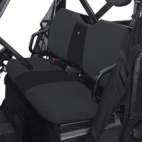 Classic Accessories QuadGear UTV Seat Cover for Polaris Ranger XP/HD (Bench), Black - 18-026-010401-00