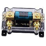 portafusibile audio 24v 100a, blocco distribuzione portafusibile digitale per car audio con display lcd