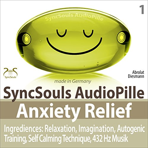 Anxiety Relief: Relaxation, Imagination, Self calming & breathing technique, 432 Hz music audiobook cover art