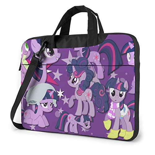 My Rainbow Pony Laptop Sleeve Case Handheld One Shoulder Shockproof Oxford Protective Case/Notebook Computer Pocket Case/Tablet Briefcase Carrying Bag Compatible-15.6 inch