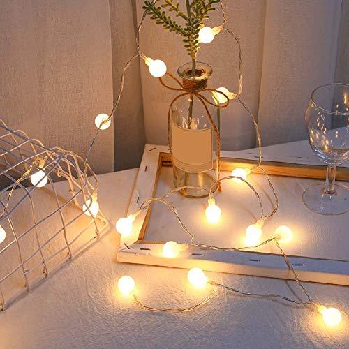 ZHQIC 20 LED Impermeable árbol de Navidad Cadena de luz decoración USB luz de Nochepara Boda Guirnalda LED Bola Cadena Luces decoración