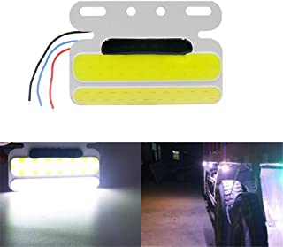 TIDO 24V Side Marker Lights,Trailer Truck Warning Lights,Super Bright LED Turn light for Tractor,Cargo,Car Carrier Trailer,and More (Pack of 2)