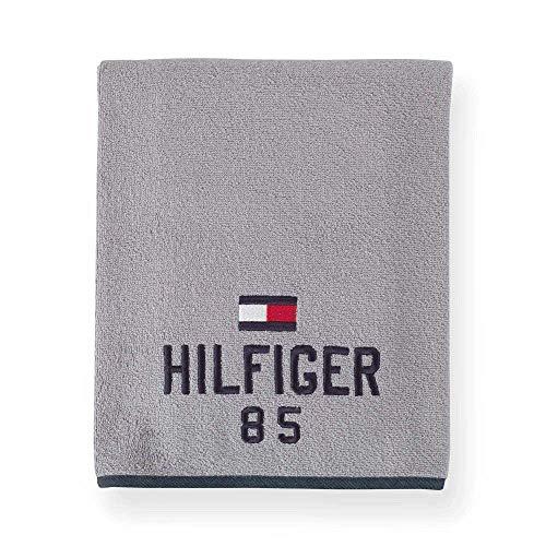Tommy Hilfiger - Toalla para yoga (90 x 200 cm, 100% rizo de puro algodón (gris)