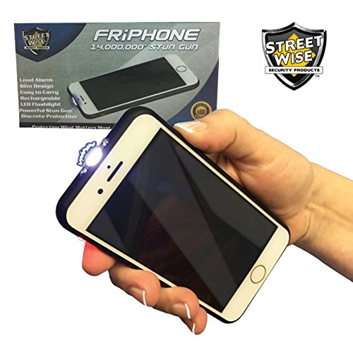 Streetwise Smart Cell Phone STUN Gun - 14,000,000 Volts w/LED Flashlight and Loud Alarm
