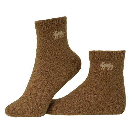 Mongol Oims Steppenkind Kinder Wollsocken 90% Kamelwolle Braun 30-32