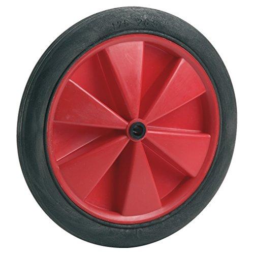 Dörner + Helmer 709186 PVC-Rad rot mit Gleitlager und Rillenprofil 185 x 24 x 10 mm Nabenbreite 32 mm