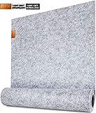Miqio - Guida Tavolo di Design - Feltro e Pelle - 150 x 40 cm Lavabile - con Applicazione in Vera Pelle - Adatto ai Set da tavola