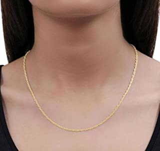 """Gold Choker, 18k Gold, Twist Rope Chain, Thin Chain, Dainty, Gift for Her, Sparkle Rope Chain, Gold Plated (16"""")"""