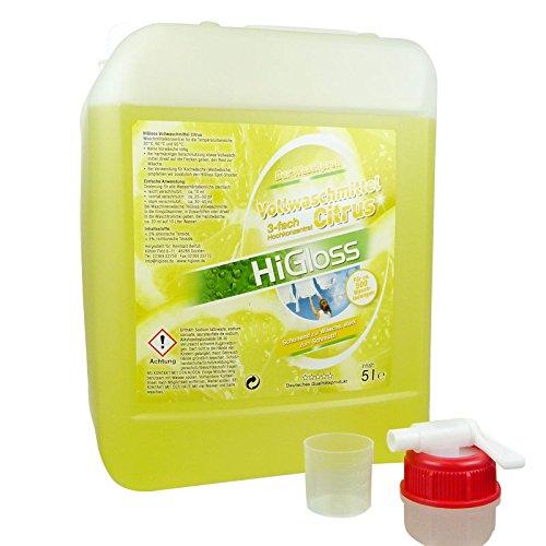 """HiGloss Vollwaschmittel """"Citrus"""" 5000ml"""