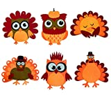 Searching for Thanksgiving arts and crafts activities for kids? These adorable owls and turkeys are ready for Thanksgiving! Package includes 12pcs Thanksgiving craft kits for kids.(6 designs,2pcs of each design) All components is felt , not glued, no...