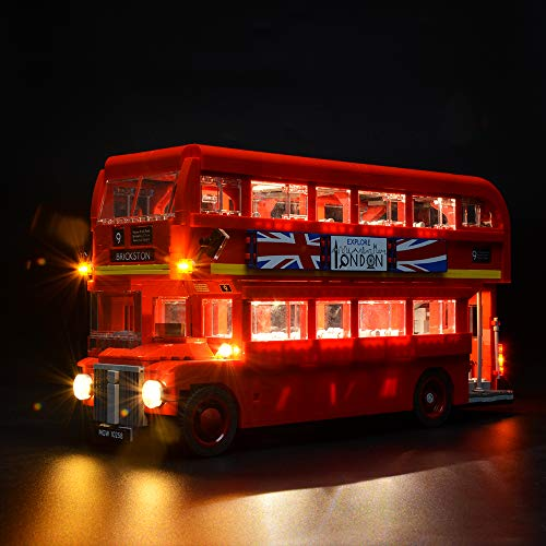 BRIKSMAX Led Beleuchtungsset für Londoner Bus, Kompatibel Mit Lego 10258 Bausteinen Modell - Ohne Lego Set