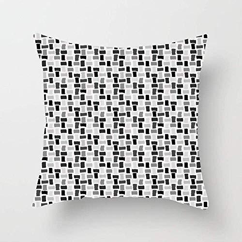 N\A Composición Abstracta de Formas rectangulares Ilustración monocromática Funda de Almohada de Tiro Cuadrado Funda de cojín para sofá Dormitorio Coche