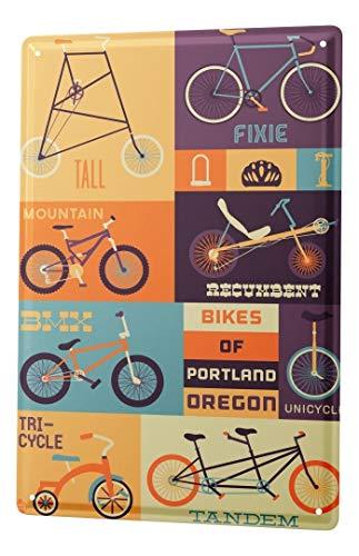 LEotiE SINCE 2004 Plaque en Métal Métallique Poster Mural tin Sign Retro Déco Vélo Portland