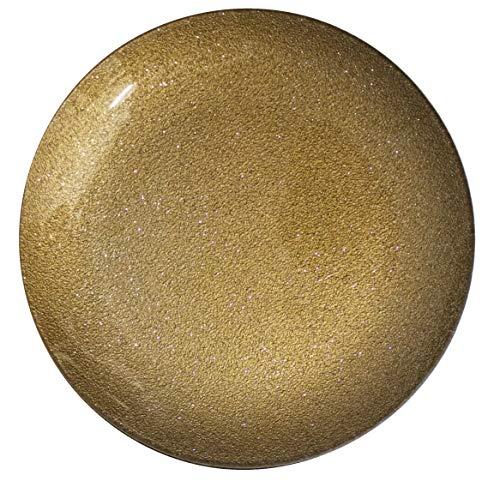 Gojoy Shop- Bandeja Vidrio Navidad, 6 Piezas Platos Ø 25cm (Oro)