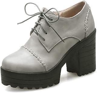 BalaMasa Womens APL11840 Pu Block Heels