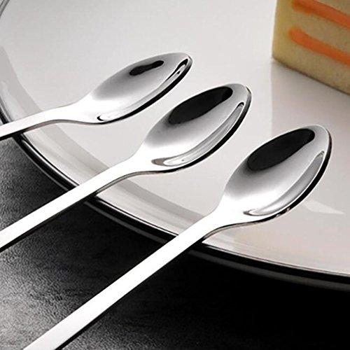 YJYdada 1 Piece Cute Cat Spoon Long Handle Spoons Flatware Drinking Tools Kitchen Gadget