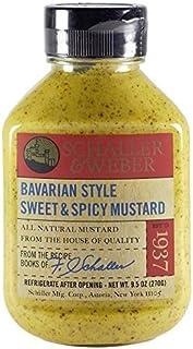 Bavarian Style Mustard, 9.5 oz. (6 pack) by Schaller & Weber
