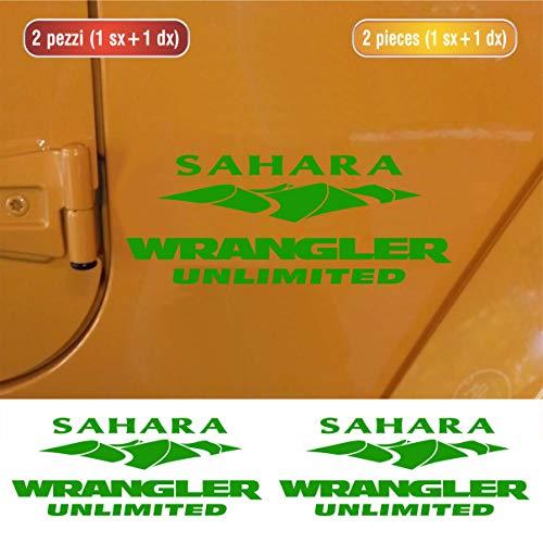 mächtig der welt Seitenaufkleber für Jeep Wrangler Sahara geeignet – Set Nr. 3 – Aufkleber mit automatischer Einstellung – Farbe -…