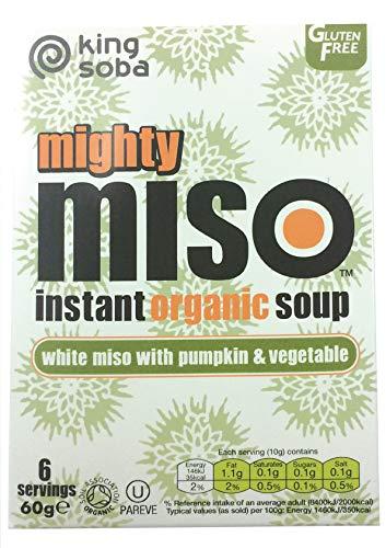 King Soba Sopa De Miso Con Calabaza Y Verduras Sin Gluten Bio, 6 X 10 G 60 ml