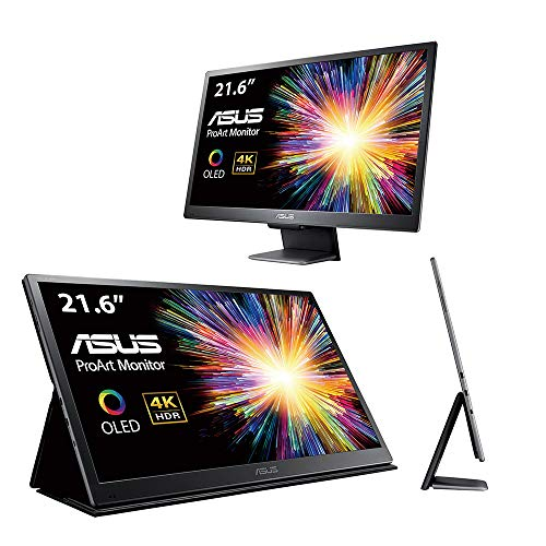 Asus 90Lm047E-B01370 Proart Pq22Uc 4K Hdr Oled Professional Portable Monitor, 21.6-