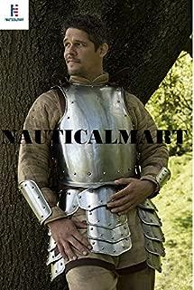 NAUTICALMART Medieval Knight Body Armor Breastplate Warrior Tasset Belt with Steel Arm Guard