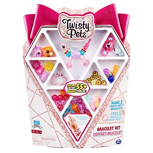 Twisty Petz, Kit 55 Cuentas para Hacer 5 Pulseras coleccionables de Animales transformables, Juguetes para niños a Partir de 6 años (Spin Master 6060750)