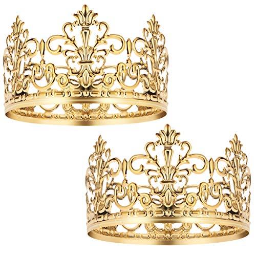 BESTonZON 2 Stück Krone Tortendekoration für Geburtstag, Dekoration für Torten, Party, Krone, Haarschmuck für Hochzeit