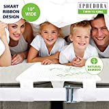 EPHEDORA Bed Bridge Twin to King Converter Kit - Mattress Extender Set to Fill in Gap - Memory Foam Filler Pad and Connector Strap - for Guest and Family Room (Twin to King (Bamboo) 10'x75')