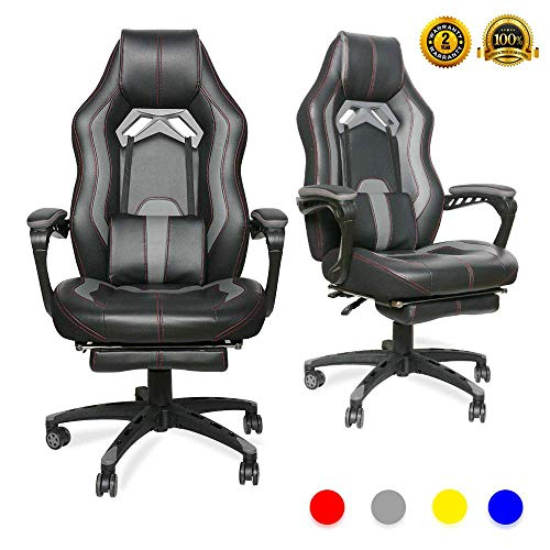 LUCKWIND Video Gaming Chair Racing Recliner - Ergonomic...