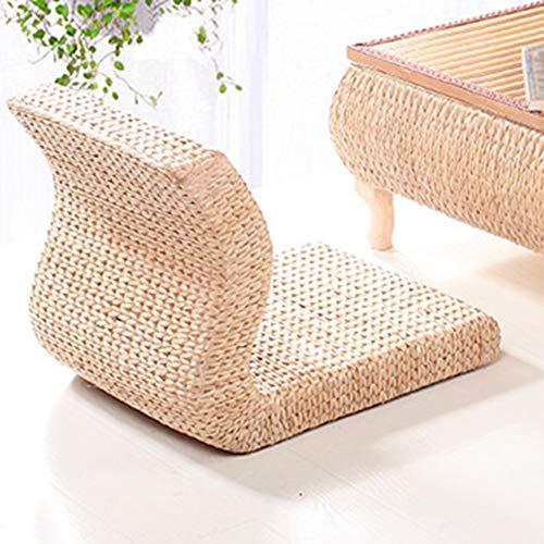 YQ WHJB Tatami Bodenstuhl,handgewebt Corn Husk Stuhl,Lazy Sofa Flache Sitzkissen,Lounge Liege Mit Rückenlehne Beinloser Stuhl,Nicht-Slip Bodensitz B