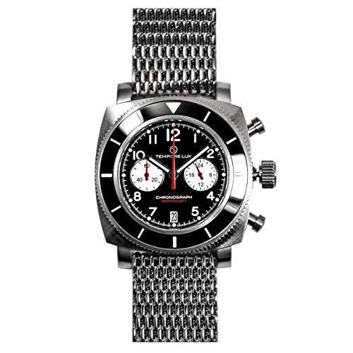 Tempore Lux V One Chronograph 01 Black - Milanese Bracelet