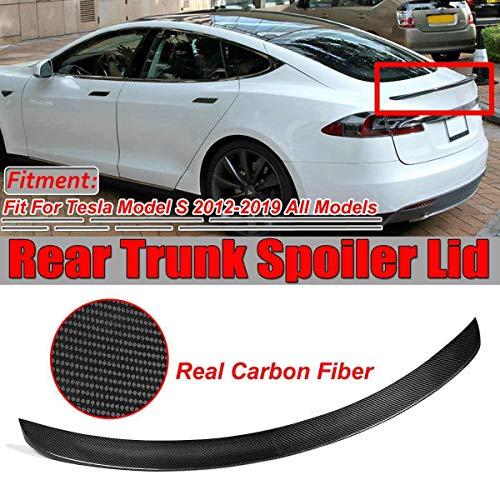 3.5cm KIMISS 1.6m//5.2ft Carbon Fiber Soft Rubber Rear Trunk Spoiler,Car Rear Roof Trunk Spoiler Wing Lip Sticker Guard