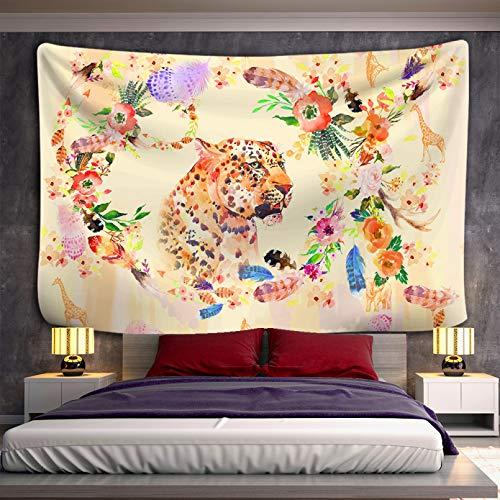N/A Estera de Picnic al Aire Libre Tapiz Tapiz de Tigre Tapiz de Flores paraColgar en la Pared, Alfombra de Cielo, tapices para Dormitorio, Arte, Accesorios de decoración del hogar