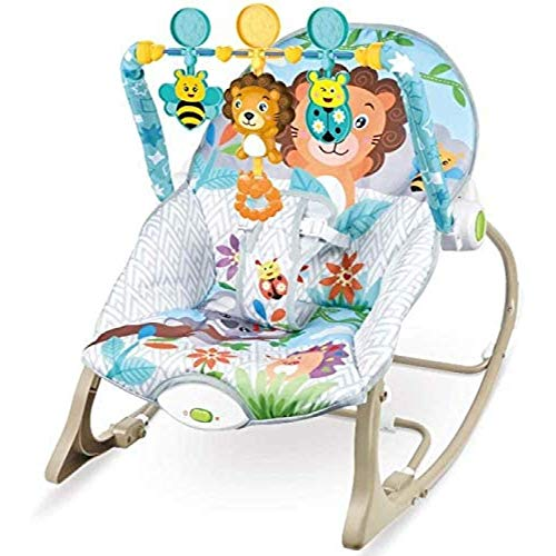 Baby Bouncer Chair,Infant Rockers Swings Chair Baby Rocking Chair Safe Cradle Chair Soothing The Baby's Artifact