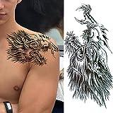 Tatuajes Temporales Adultos 3 Hojas Flower Temporary Tattoos For Women Lady Girl Fake Dahlia Black Rose Peony Realistic Tattoo Stickers Forearm Tatoo Transfer Picture 4