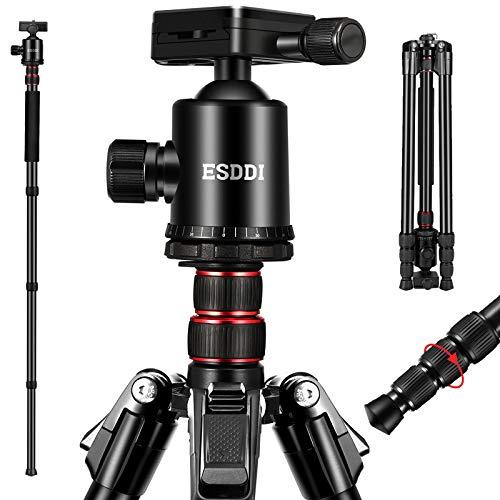 ESDDI Camera Tripod, 79 inches Aluminum Tripod for Camera with 360° Panorama Ball...