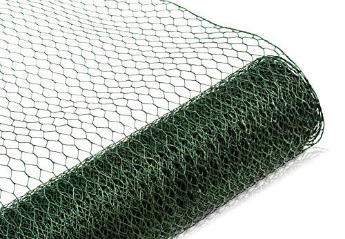 Maschendrahtzaun Kaninchendraht Kükendraht Hühnerdraht grün Draht 30-100 cm Höhe Sechseckgeflecht Sechseckdraht Hasendraht