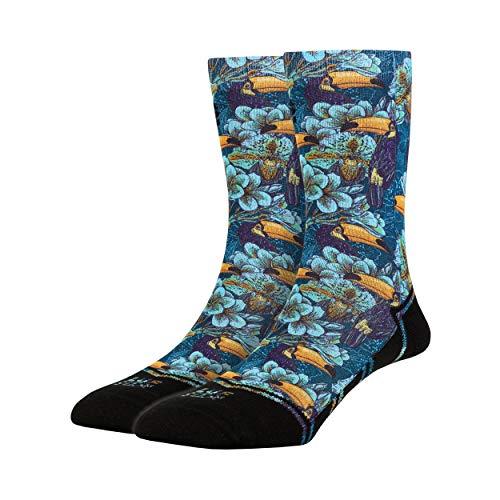 LUF SOX Classics Tika Taka Tuka - Socken für Damen und Herren, Unisex-Größe 35-39, 40-43 und 44-48, mehrfarbig, Ferse und Fußspitze leicht gepolstert