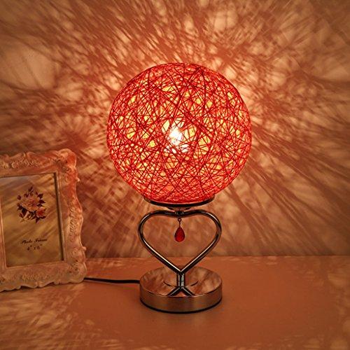 Chambre à coucher Lampe de chevet Ma lampe de table de rotin Décoration chaude Chambre de mariage Lumière de nuit (couleur : J)