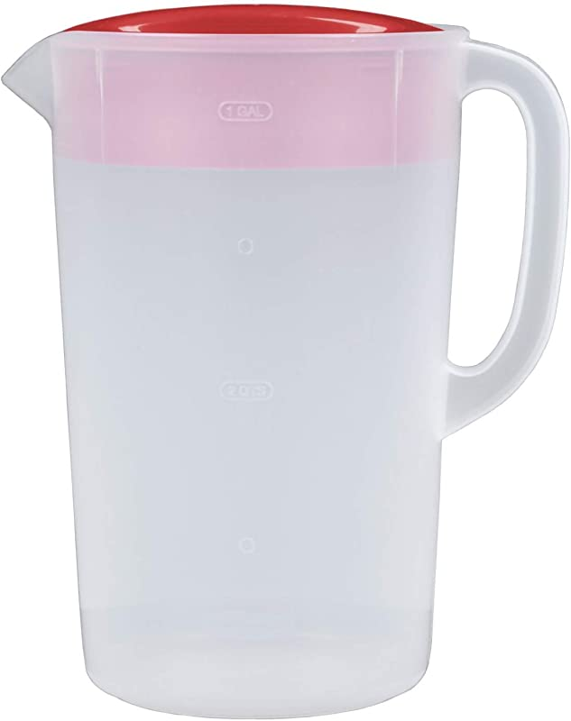 Rubbermaid 1 Gallon Classic Pitcher Pack Of 2 Red Clear Pitchers