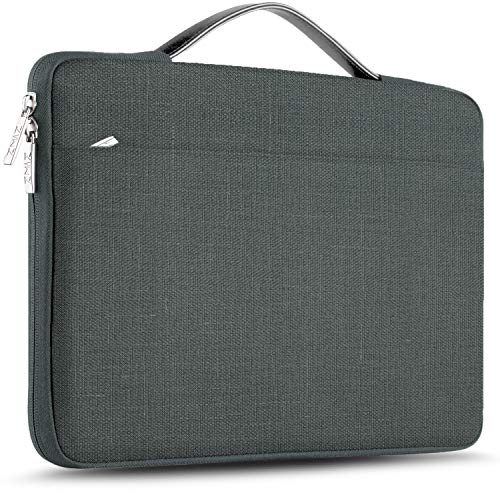 ZINZ Maletín 15 15,6 16 Funda Portátil Impermeable para 15-16 Pulgadas MacBook Pro 16 15, Surface Laptop 3 15,XPS 15 Laptop Ultrabook Netbook, DELL HP Lenovo Acer ASUS y más, Lino Gris